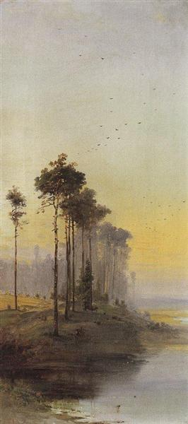Landscape with pines - Aleksey Savrasov