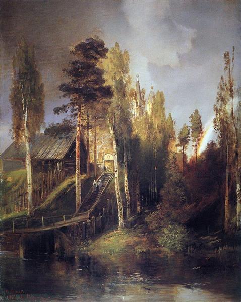 Monastery Gates, 1875 - Alexei Kondratjewitsch Sawrassow