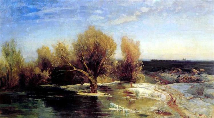 Spring, 1883 - Aleksey Savrasov