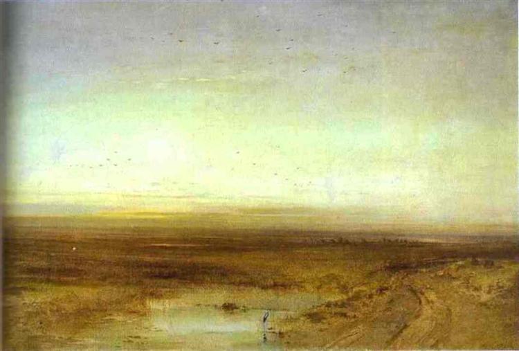 Sunset, 1875 - Alexei Kondratjewitsch Sawrassow
