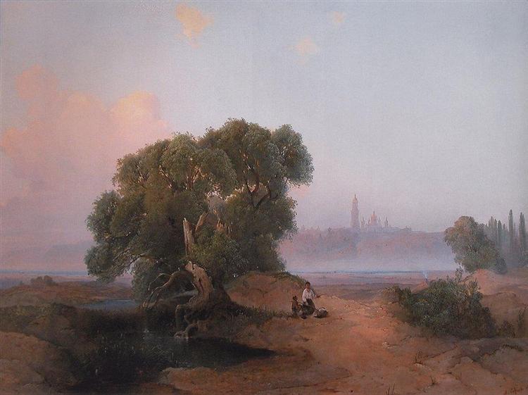 View of Pechersk Lavra in Kiev from the Dnieper, 1852 - Aleksey Savrasov