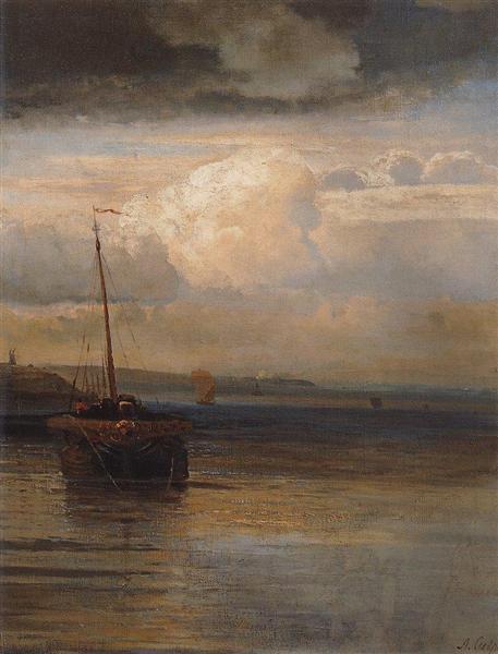 Volga.Landscape, 1870 - Aleksey Savrasov