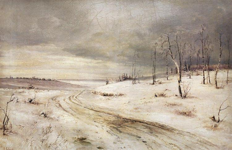 Winter road, c.1870 - Aleksey Savrasov