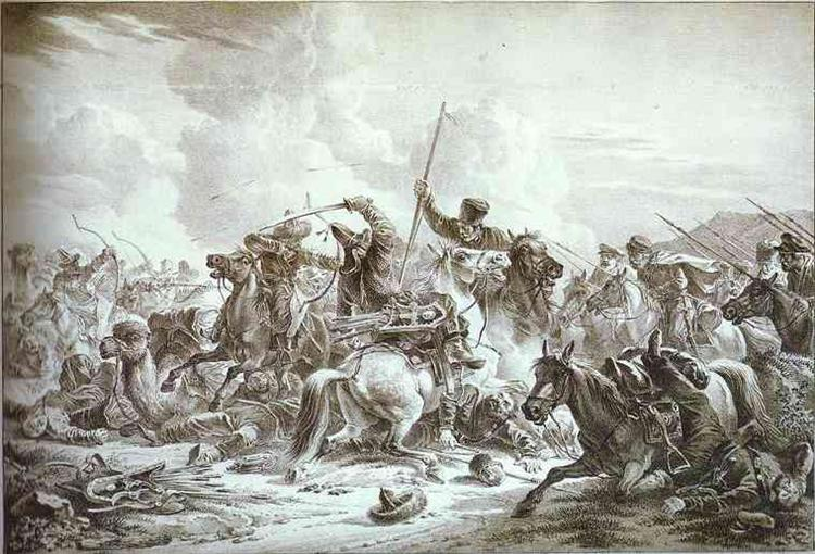 Battle of Cossaks with Kirgizes, 1826 - Alexander Orlowski