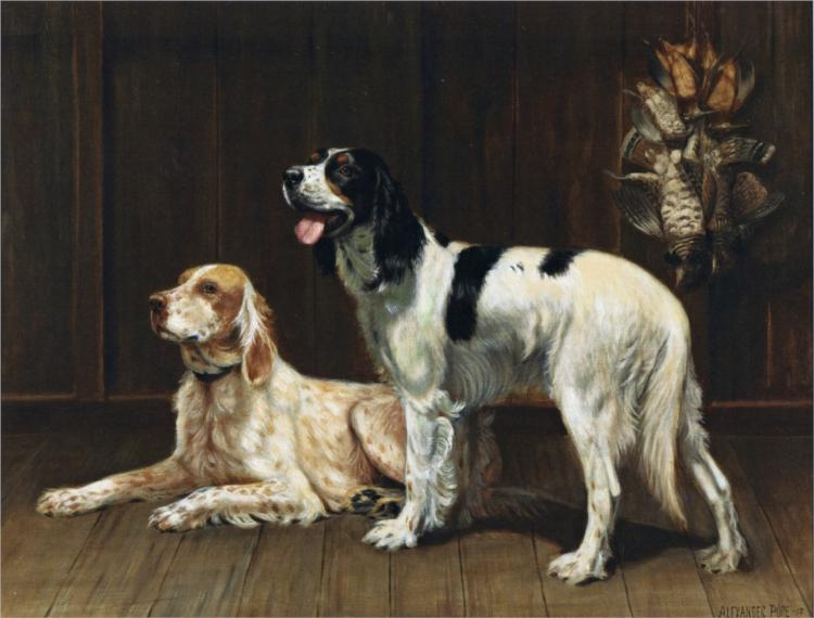 A Pair of Setters, 1913 - Alexander Pope