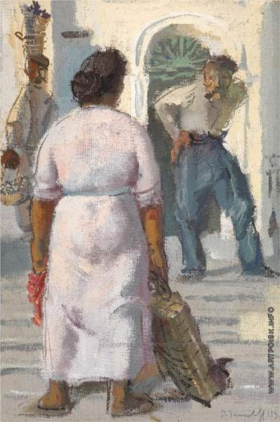 Conversation in Capri, 1936 - Alexandre Jacovleff