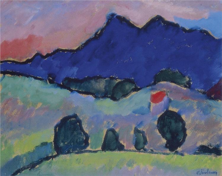 Blauer Berg - Alexej von Jawlensky
