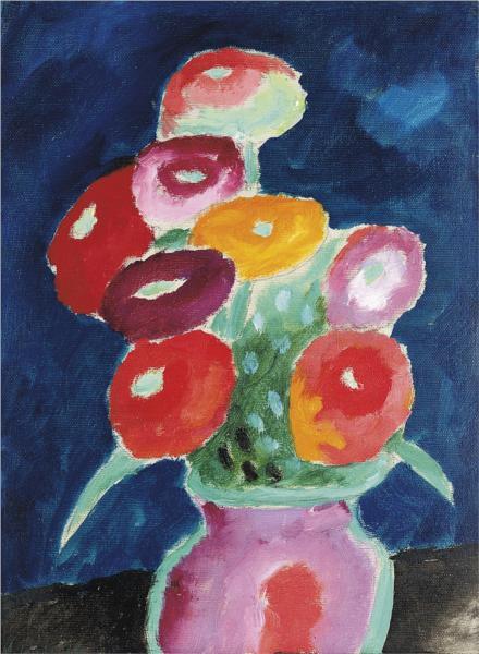 Blumen in einer Vase, 1918 - Alexej von Jawlensky