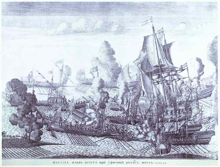 Battle of Gangut June 27, 1714, 1715 - Alexey Zubov