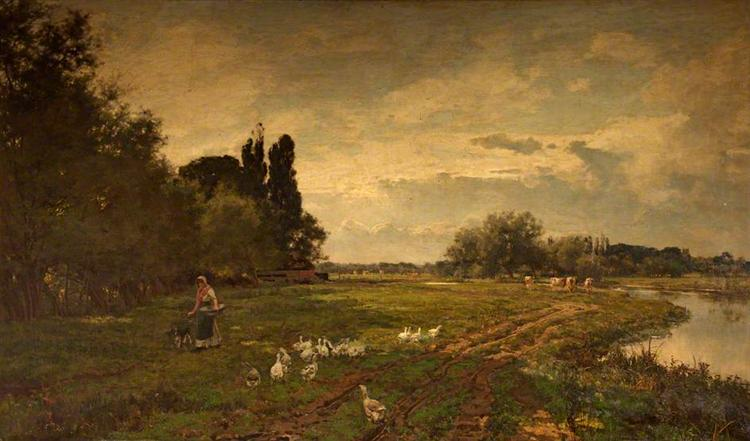 On the Avon near Stratford, 1884 - Alfred Parsons