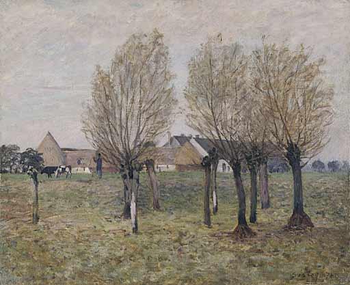 A Normandy Farm, c.1874 - Alfred Sisley