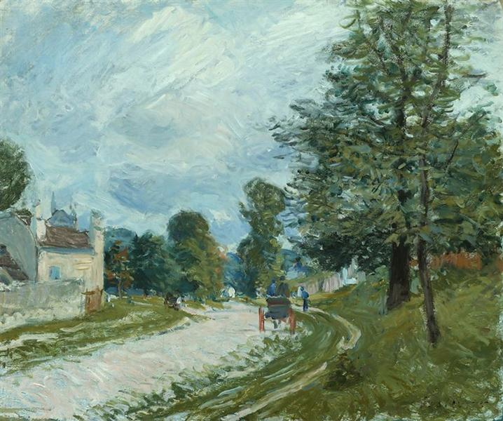 A Turn in the Road, 1885 - Alfred Sisley