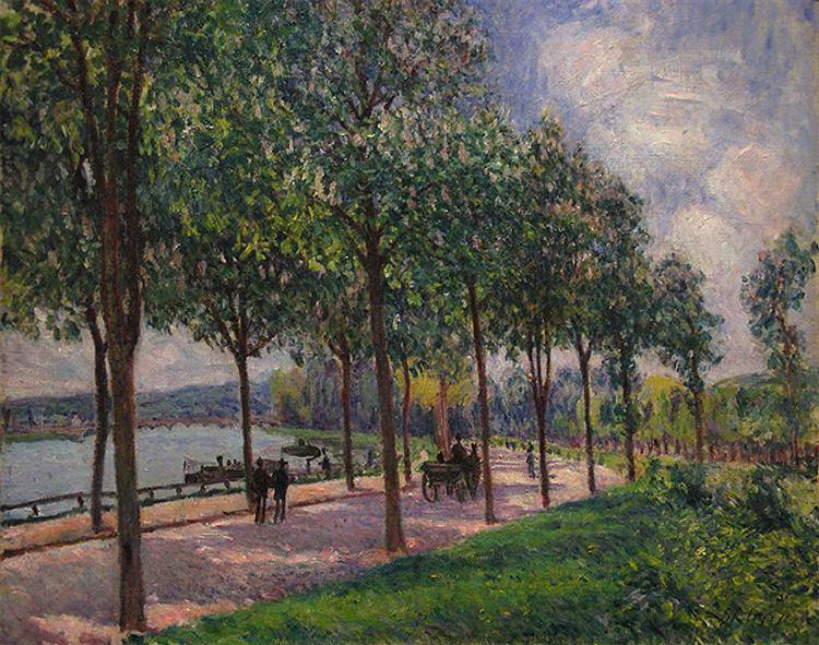 Alley of Chestnut Trees - Alfred Sisley