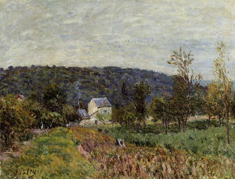 An Autumn Evening near Paris, 1879 - Alfred Sisley
