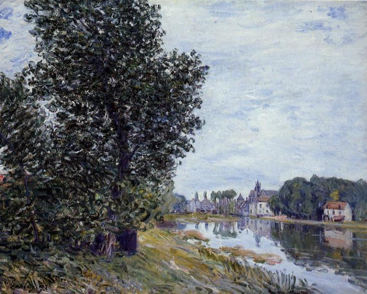 At Moret sur Loing, 1892 - Alfred Sisley