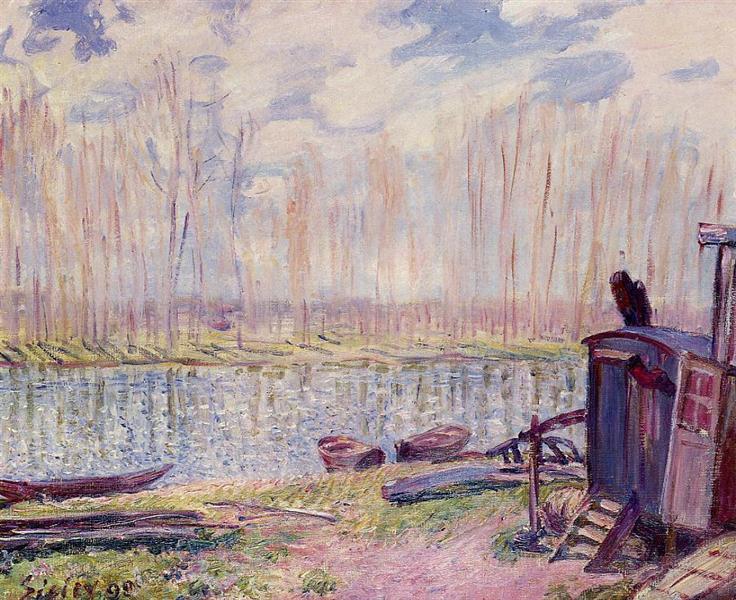 Banks of the Loing, 1890 - Alfred Sisley