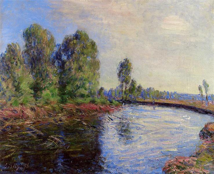 Banks of the Loing, 1896 - Alfred Sisley
