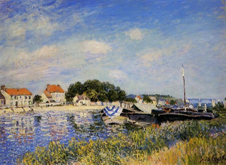 Banks of the Loing at Saint Mammes, 1885 - Alfred Sisley