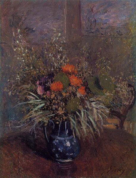 Bouquet of Flowers, 1875 - Alfred Sisley