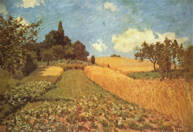 Cornfield, 1873 - Alfred Sisley
