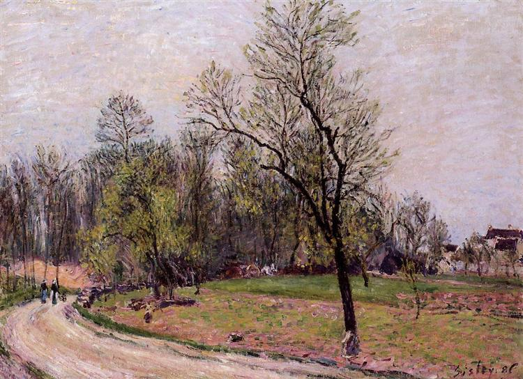 Edge of the Forest in Spring, Evening, 1886 - Alfred Sisley