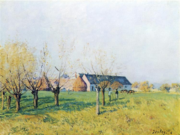 FarmtoHöllenkaff, 1874 - Alfred Sisley