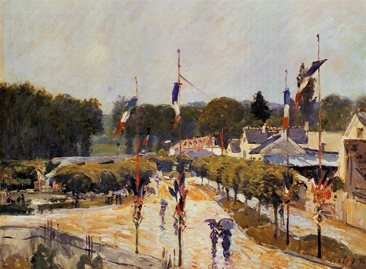Fete Day at Marly le Roi (The Fourteenth of July at Marly le Roi), 1875 - Alfred Sisley