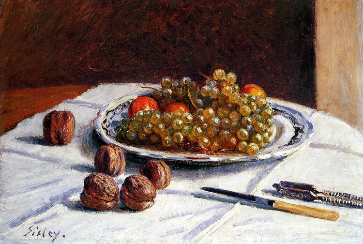 Grapes And Walnuts, 1876 - Alfred Sisley