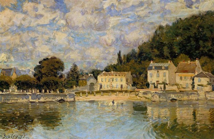 Horses being Watered at Marly le Roi, 1875 - Alfred Sisley