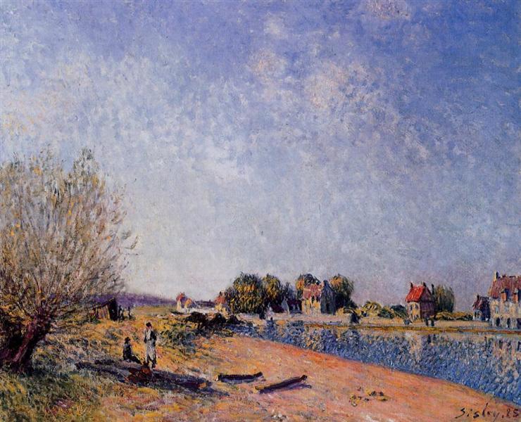 Loing Canal at Saint Mammes, 1885 - Alfred Sisley