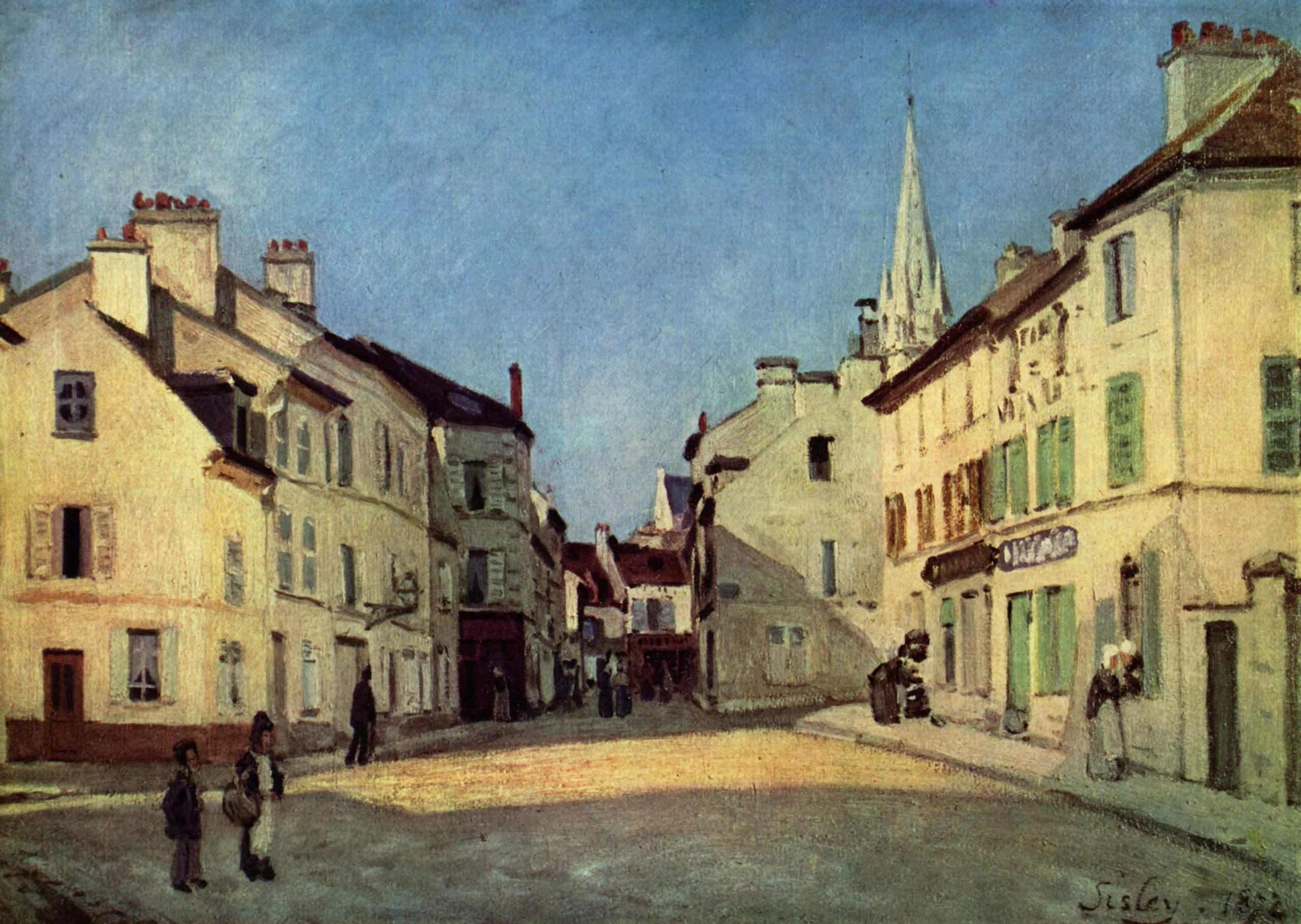 Alfred Sisley, (1839 - 1899) Platz-in-argenteuil-1872
