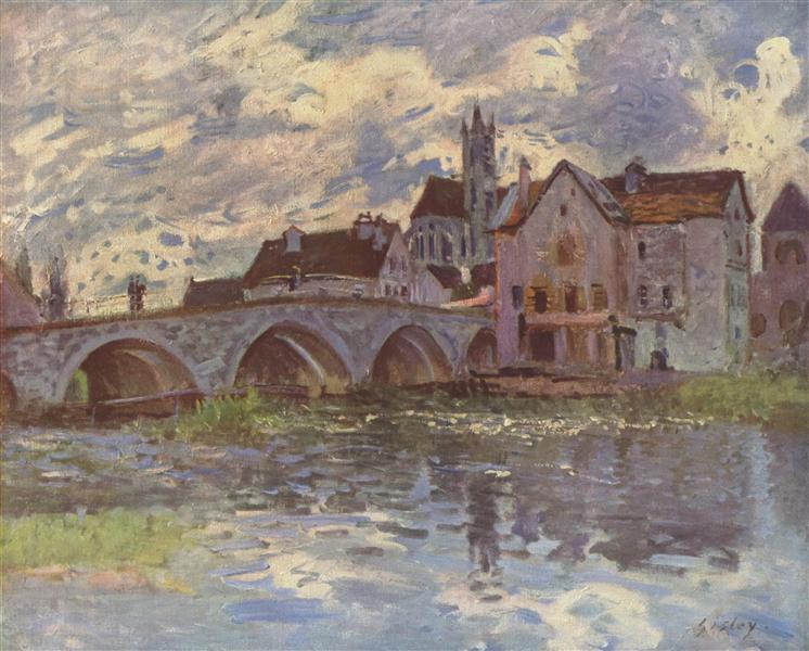 Pont de Moret sur Loing, c.1885 - Alfred Sisley