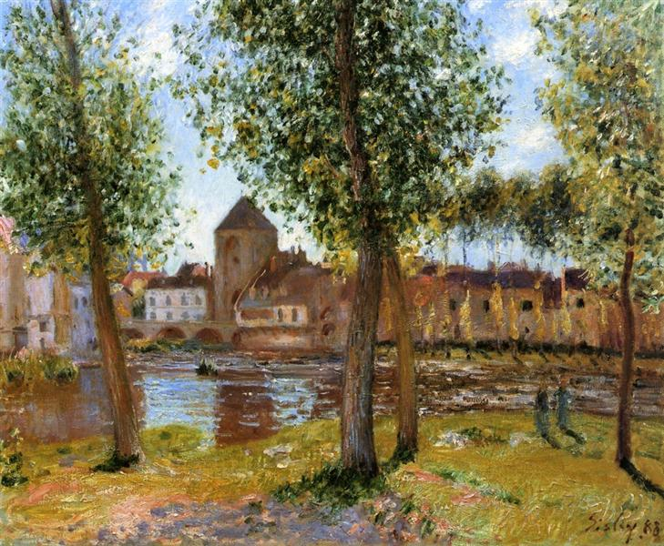 Poplars a Moret sur Loing, an August Afternoon, 1888 - Alfred Sisley