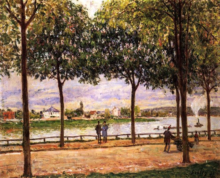 Promenade of Chestnut Trees, 1878 - Alfred Sisley