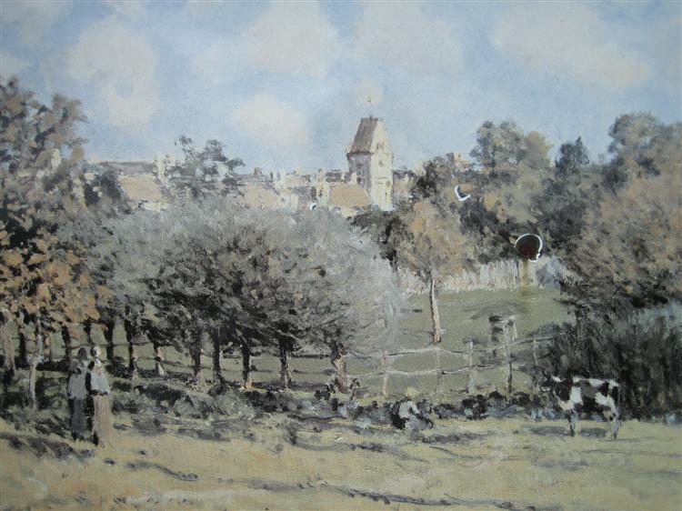 Saint Lubin Church, 1886 - Alfred Sisley
