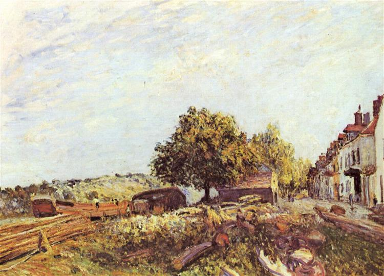 Saint Mammès in Morning, c.1890 - Alfred Sisley