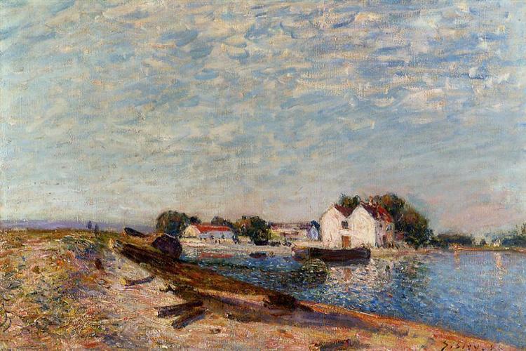 Saint Mammes Dam, 1885 - Alfred Sisley