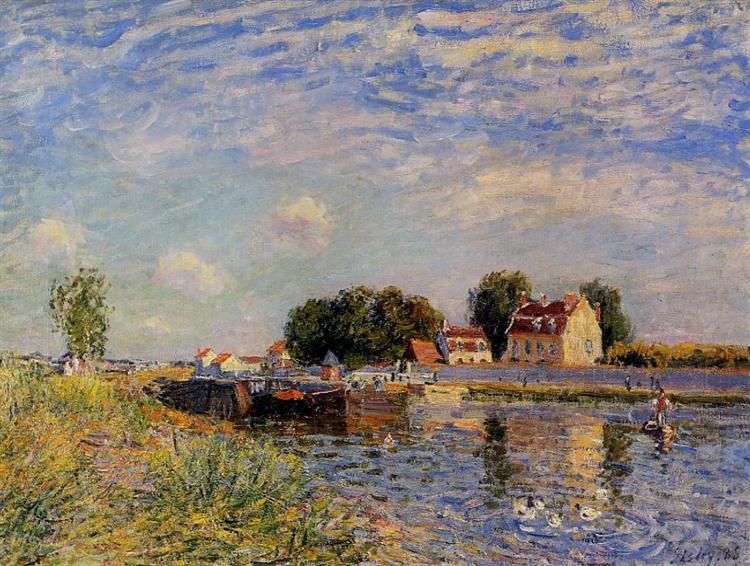 Saint Mammes, Ducks on Canal, 1885 - Alfred Sisley