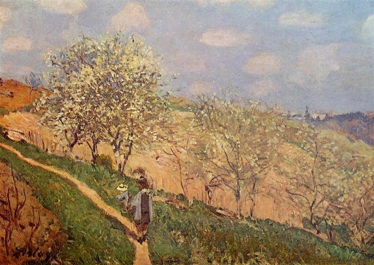 Spring in Bougival, 1873 - Alfred Sisley