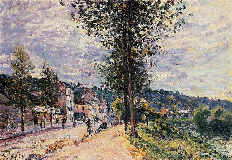 Street Entering the Village, 1880 - Alfred Sisley