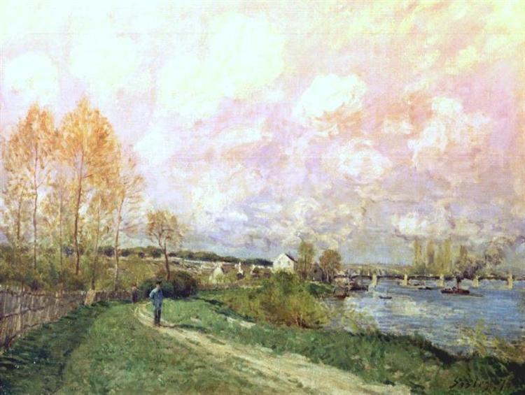 Summer at Bougival, 1876 - Alfred Sisley