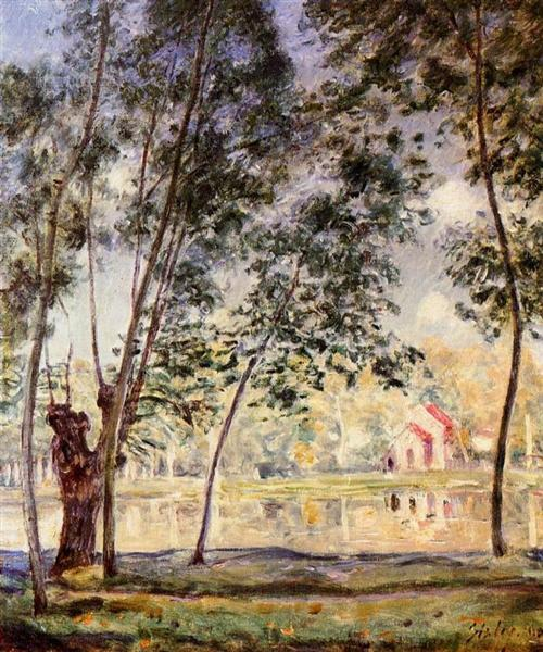 Sunny Afternoon Willows by the Loing, 1890 - Alfred Sisley