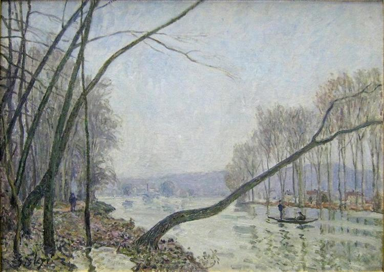 The Banks of the Seine in Autumn, 1876 - Alfred Sisley