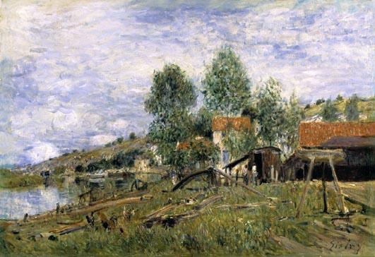 The Boatyard at Saint Mammes, 1886 - Альфред Сислей