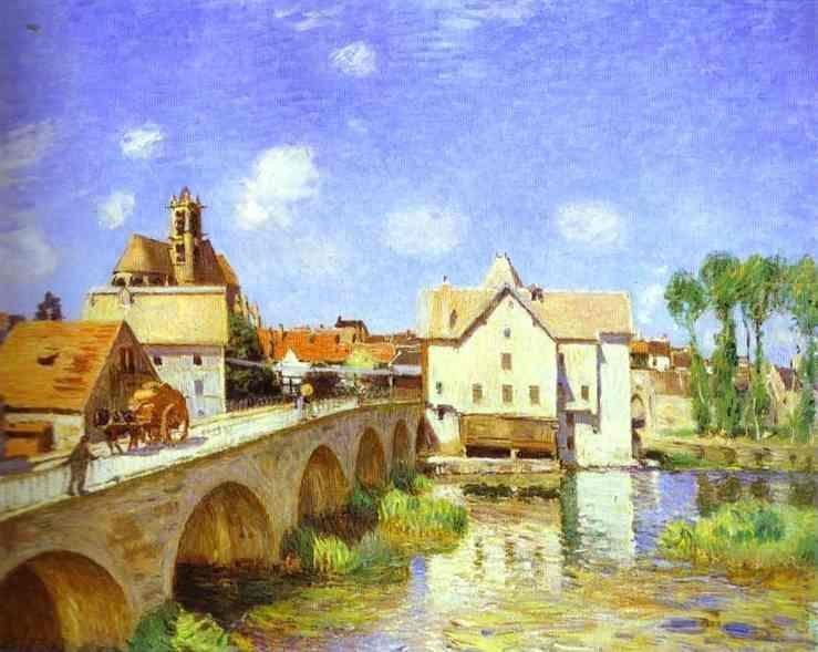 The Bridge at Moret, 1893 - Alfred Sisley