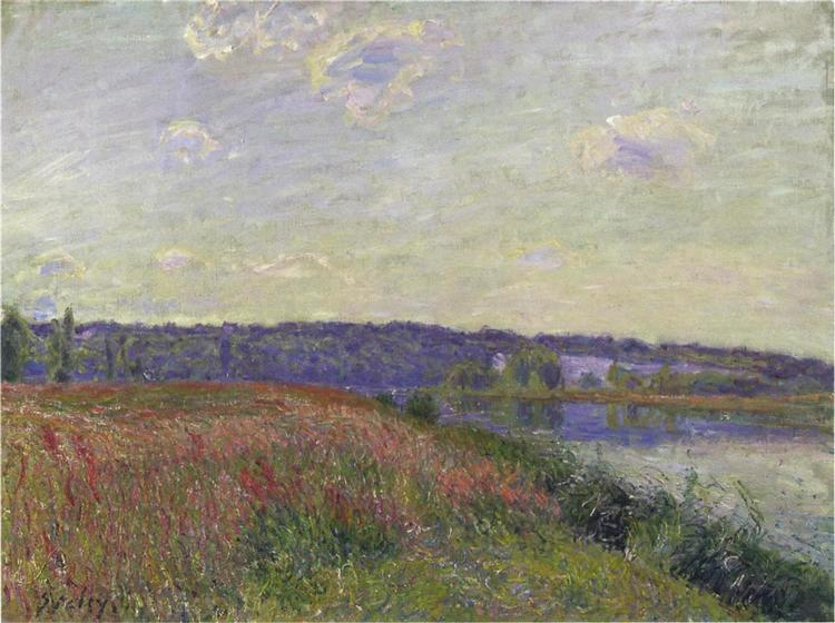 The Fields and Hills of Veneux Nadon, 1881 - Alfred Sisley
