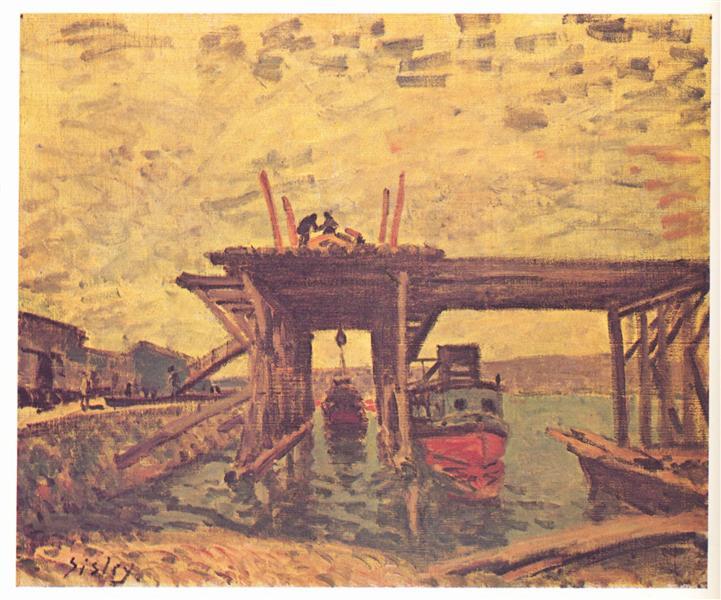 TheLoingatMoret, 1885 - Alfred Sisley
