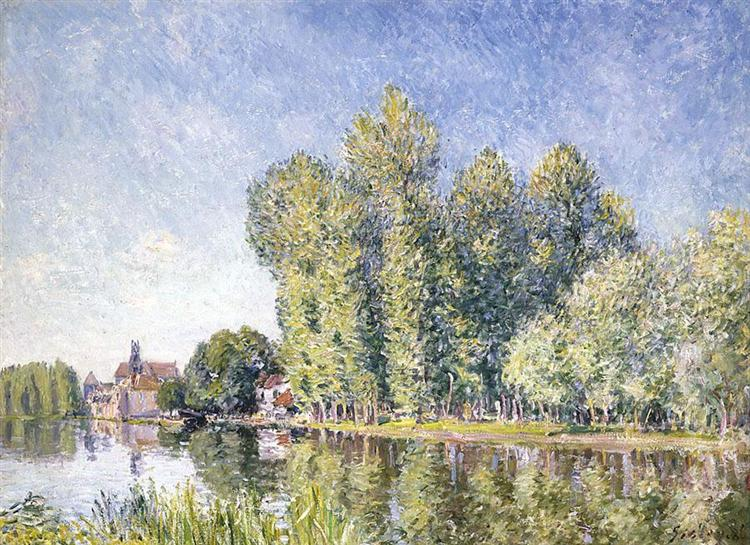 The Loing at Moret, 1886 - Alfred Sisley