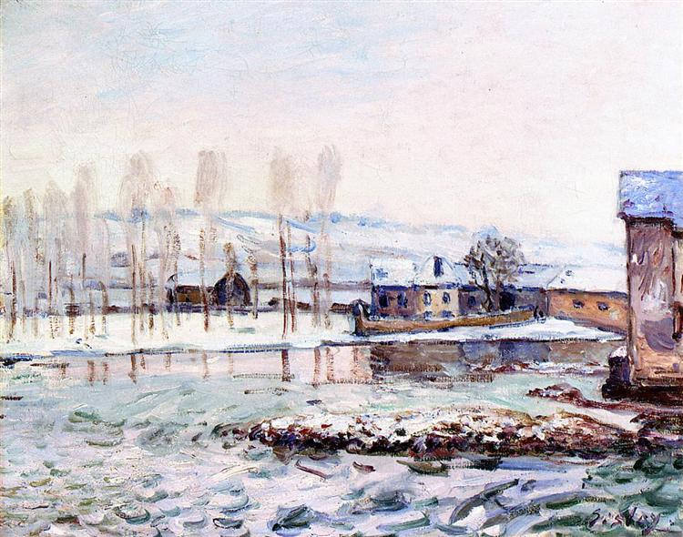 The Mills at Moret, 1890 - Alfred Sisley