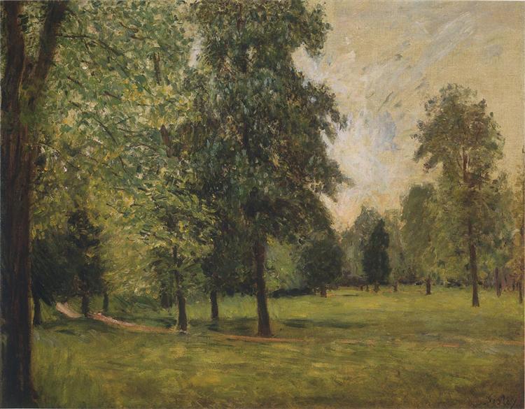 The Park at Sevres, 1877 - Alfred Sisley